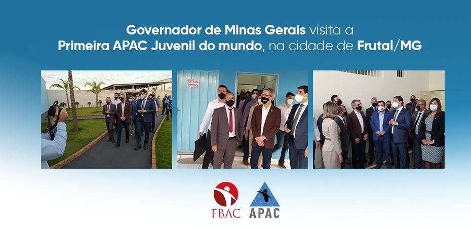GOVERNADOR DE MINAS GERAIS VISITA A PRIMEIRA APAC JUVENIL DO MUNDO, NA CIDADE DE FRUTAL/MG