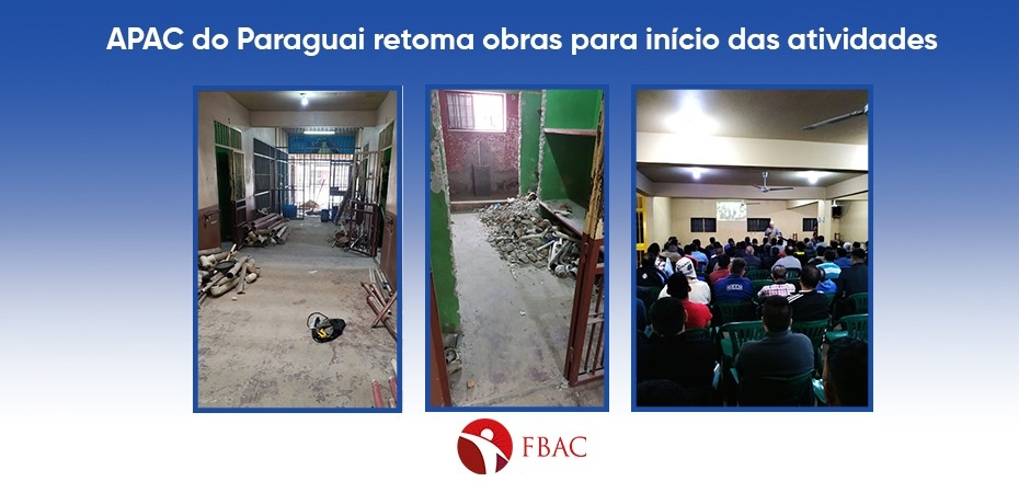 APAC do Paraguai retoma obras para início das atividades