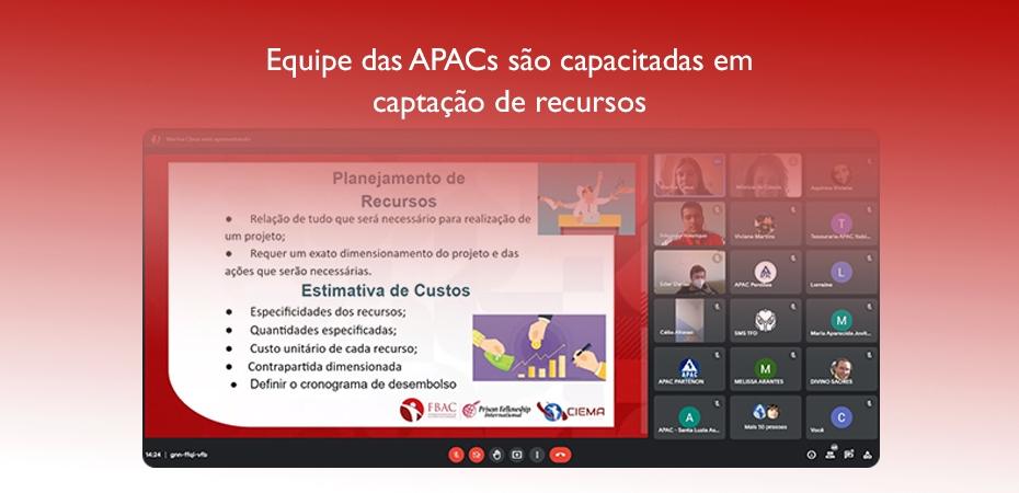 Equipe das APACs são capacitadas em captação de recursos